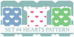 Hearts Pattern by xVanillaSky