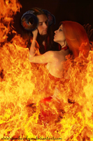 In fire by Amber-Kyou
