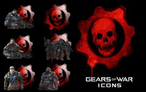 Gears Of War Icons by kokej69