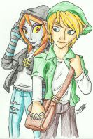 Modern Link and Midna by Sonicguru