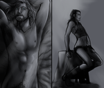 Thor / Loki : Pin Up Boys by nightmarez0mbie