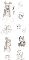 Danny Phantom Sketchdump by HollowHikari