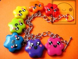 Rainbow Candy Cuties Bracelet by efeeha