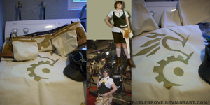 SteamPunk Mechanic Apron v1 by elfgrove