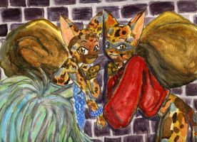 Mungojerrie and Rumpleteazer by midniteoil