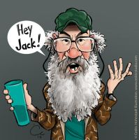 Uncle Si from Duck Dynasty by cedricstudio