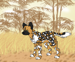 Jigsaw: African Wild Dog by ThreeTwoOneSymphony