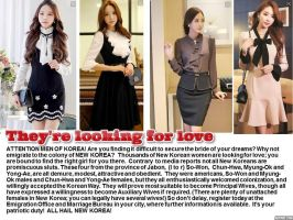 Hail New Korea: They're looking for love by p-l-richards