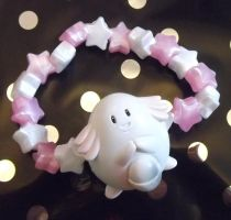 Kawaii Kandi Chansey star bead Pokemon bracelet by KawaiiMoon24