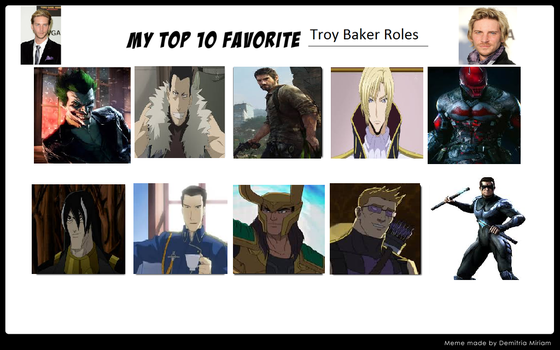 Top 10 Troy Baker Roles by MagicalAlchemist17