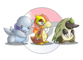 My Fakemon Starters by MasaBear