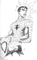holiday sketch 4-spidey by deemonproductions
