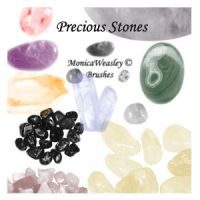 Brushes - Precious Stones by Stock-gallery
