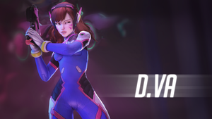 (Overwatch) D.va Wallpaper by Ferexes