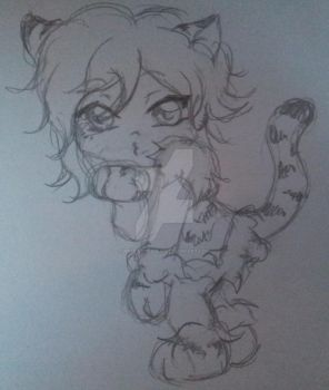 Uruha chibi as a tiger XD by Mika-loves-Kai