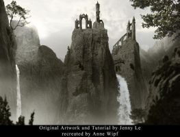 Mountainous Matte Painting by annewipf
