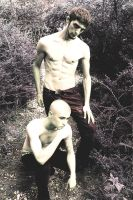RUDY AND JERRICHO VAMPIRE AND PREY. by exposureunlimited