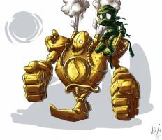Amumu and Blitzcrank by Artsed