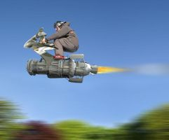 Rocket rider by solkee