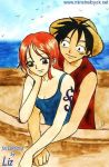 Luffy and Nami by Alkanet