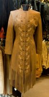 Leather Coat with Bone Beads by SalsolaStock