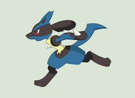 Pokemon Base 154~Lucario 4~ by Xbox-DS-Gameboy