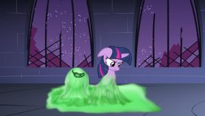 Twilight Sparkle VS slime by dingdingxu377
