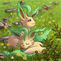 Gotta Draw 'em All Collab - Leafeon