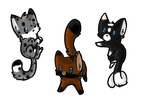 Kitten adoptables 1 by AmbertheWolf15