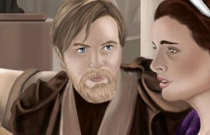 Obi-Wan And Padme (He's the Father) by JediMindTrickXx