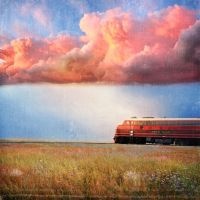 Sunset train by lakeglenmiss