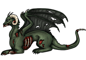 Zombie dragon by Blavi