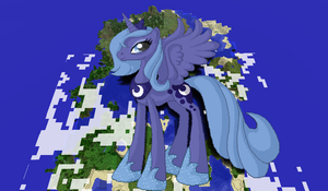 Princess Luna Minecraft by TheUnknown644