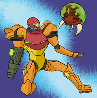 Metroid by ThunderMagi