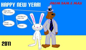A Sam and Max New Year by StrongBrush1