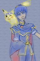 Marth and Pikachu- Brawl Team by paje-chan