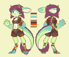Char. Design for Allaze-eroler by CookieHana