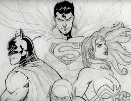 JLA WIP by bathill8