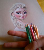 Elsa progress by aaronbakerart