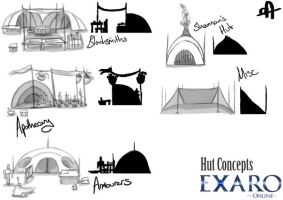 Exaro Town Concept - Huts 1 by AaronQuinn