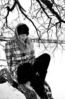 Snow 9 Black and White by ScarlettAlexandra