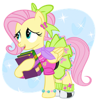1950s Fluttershy by PixelKitties