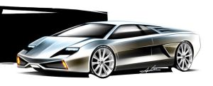 lamborghini sketch by carlexdesign