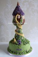 rapunzel tower cake by zoesfancycakes