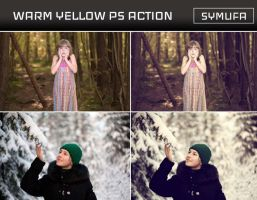 WARM YELLOW PHOTOSHOP ACTION  0027 by symufa