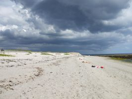 Storm on the beach by Anemya-Stock