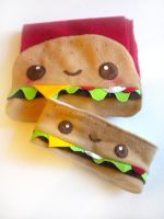 Cheeseburger Warmer Set by kickass-peanut