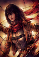 Attack on Titan_Mikasa by DZIU09