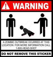 Zombie Outbreak Sticker by Solid-Snake-Zombie