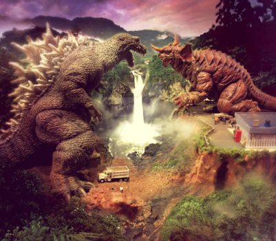 Godzilla vs Baragon by sarcophagus6